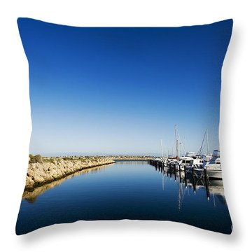Challenger Harbour Of Fremantle Throw Pillow
