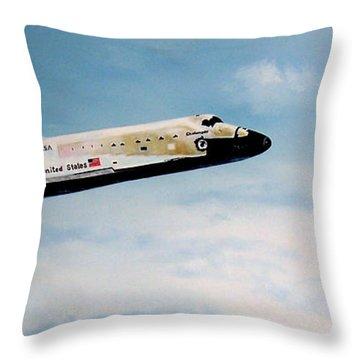 Challenger Throw Pillow by Murphy Elliott