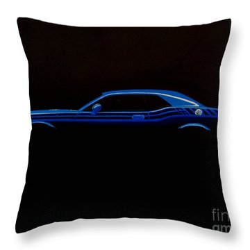 Challenger Silhouette Throw Pillow by Paul Kuras