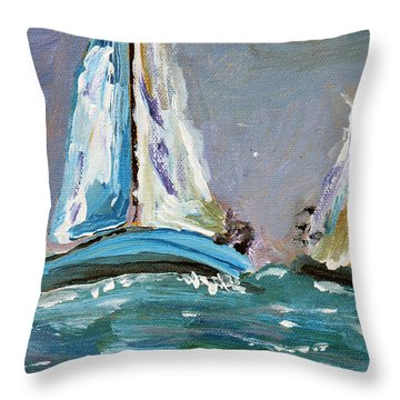 Challenging Waters Throw Pillow