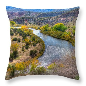 Chama River Overlook Throw Pillow by Alan Toepfer