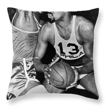 Chamberlain Versus Russell Throw Pillow