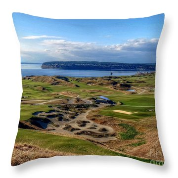 Chambers Bay View 2013 Cropped Throw Pillow