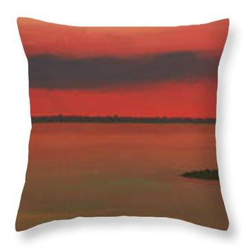 Chambers Island Sunset Throw Pillow