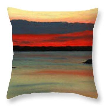 Chambers Island Sunset II Throw Pillow