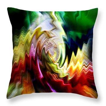 Throw Pillow featuring the digital art Chameleon by Selke Boris