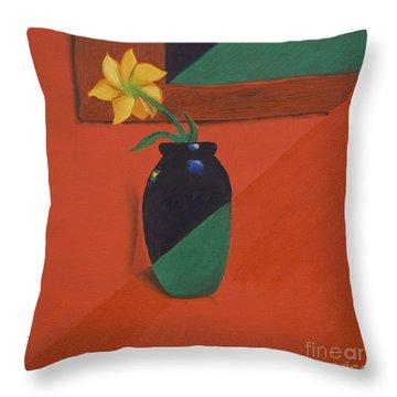 Chameleons Vase Throw Pillow