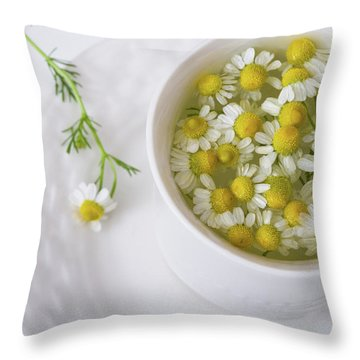 Chamomile Tea Throw Pillow