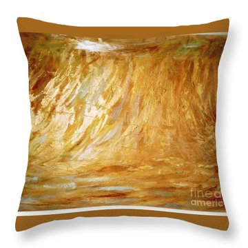 Champ De Ble' Throw Pillow