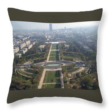 Throw Pillow featuring the photograph Champ De Mars by Barbara McDevitt