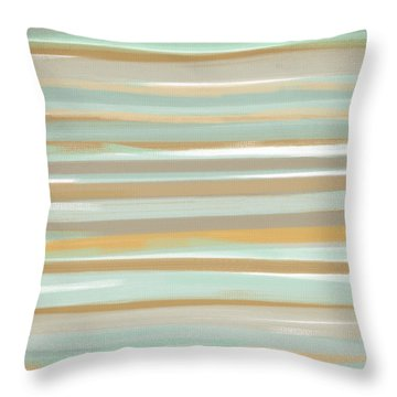 Champagne And Gold Throw Pillow by Lourry Legarde