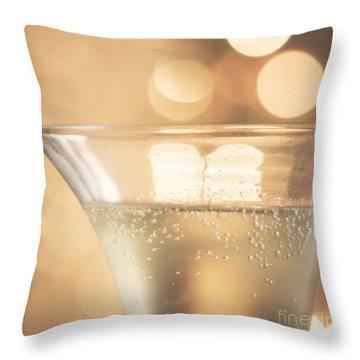 Champagne Celebration Throw Pillow by Kim Fearheiley