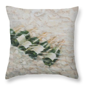 Champagne Cooling Throw Pillow by Lincoln Seligman