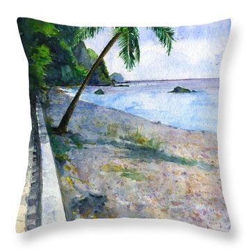 Champagne Snorkel Dominica Throw Pillow by John D Benson
