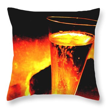 Champagne Wishes Throw Pillow by Jerome Stumphauzer