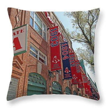 Championship Banners Throw Pillow by Barbara McDevitt