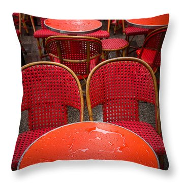 Champs Elysees Cafe Throw Pillow by Inge Johnsson