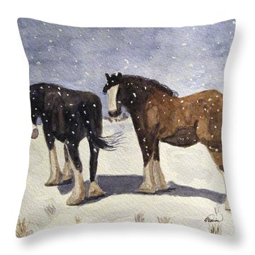 Chance Of Flurries Throw Pillow