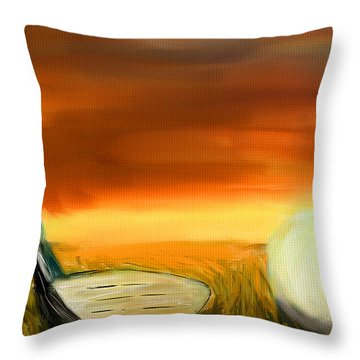 Chance To Hit Throw Pillow by Lourry Legarde