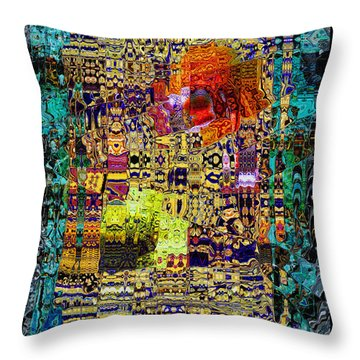 Chandelier Mosaic 1 Throw Pillow