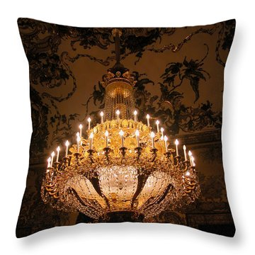 Chandelier Palacio Real Throw Pillow