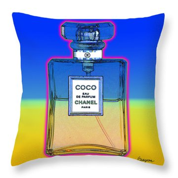 Chanel Bottle 1 Throw Pillow