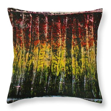 Throw Pillow featuring the painting Change Is Good by Michael Cross