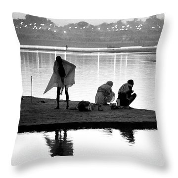 River Ganges Throw Pillow