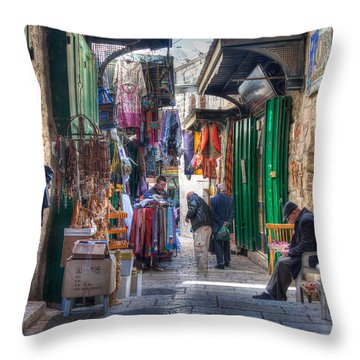 Changing Colors Of The Market Throw Pillow