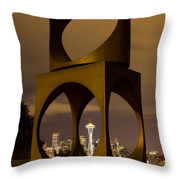 Changing Form Of Seattle Throw Pillow by Charlie Duncan