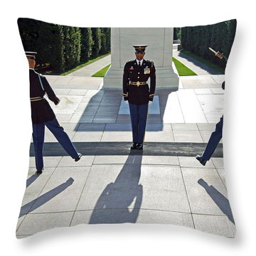 Throw Pillow featuring the photograph Changing Of The Guard by Cora Wandel