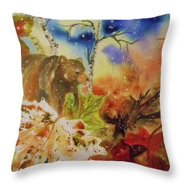 Changing Of The Seasons - Square Format Throw Pillow by Ellen Levinson
