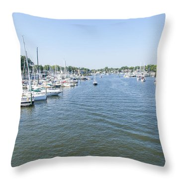 Throw Pillow featuring the photograph Channel Down Spa Creek by Charles Kraus