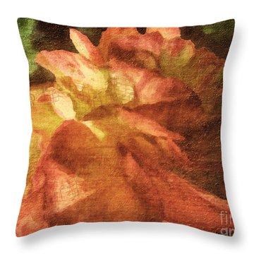 Throw Pillow featuring the digital art Chanson D'amour by Lianne Schneider