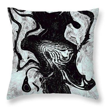 Throw Pillow featuring the digital art Chanteuse by Richard Thomas