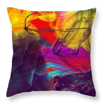Throw Pillow featuring the digital art Chaos by Clayton Bruster