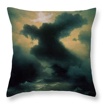 Chaos The Creation Throw Pillow by Ivan Konstantinovich Aivazovsky