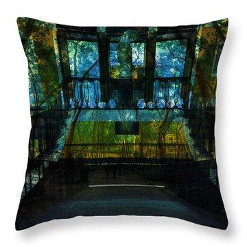 Chaos Throw Pillow by Tina Baxter