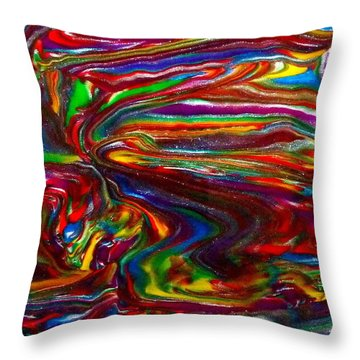 Chaotic Flow Throw Pillow
