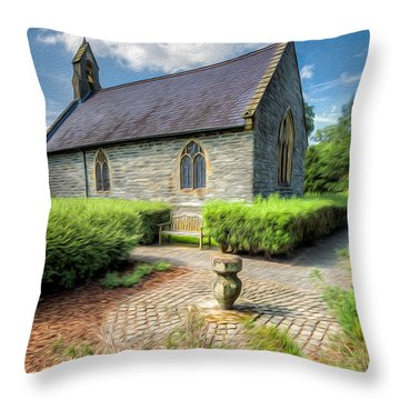 Chapel 17th Century  Throw Pillow by Adrian Evans
