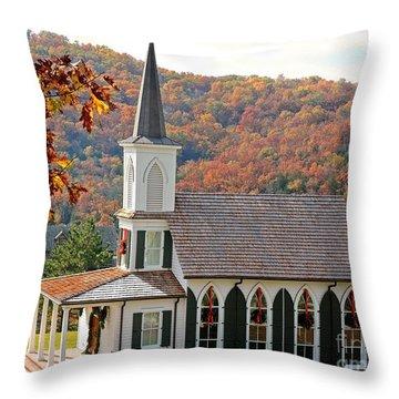 Chapel At Big Cedar Throw Pillow