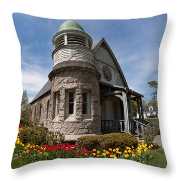 Chapel At Laurel Hill Cemetery Throw Pillow
