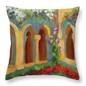 Chapel At St. Remy Throw Pillow