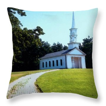 Chapel At The Wayside Inn Throw Pillow by Desiree Paquette