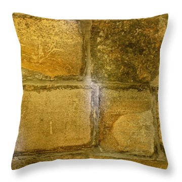 Chapel Floor In Mont-st-michel Throw Pillow