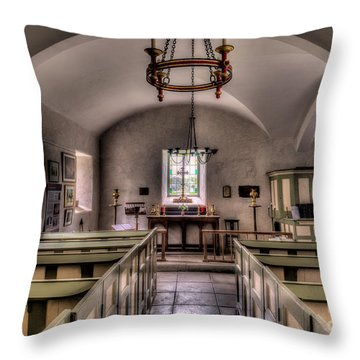Chapel In Wales Throw Pillow by Adrian Evans