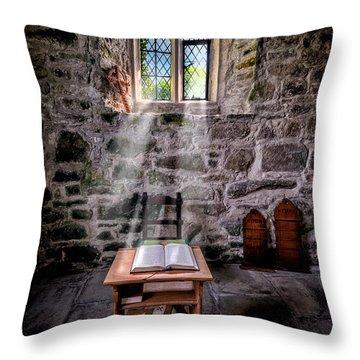 Chapel Light Throw Pillow by Adrian Evans