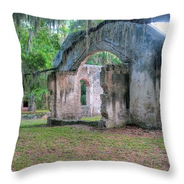 Chapel Of Ease With Tomb Throw Pillow