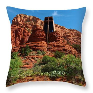 Chapel Of The Holy Cross Throw Pillow by Dany Lison