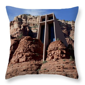 Throw Pillow featuring the photograph Chapel Of The Holy Cross by Ivete Basso Photography